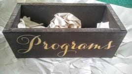 Wooden Program Box