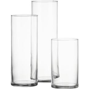 Glass Cylinder Vase Set (3)