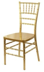 GOLD Resin Chiavari Chair w/ Cushion
