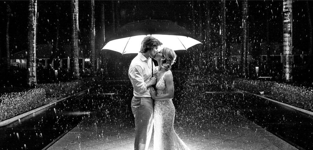 What to do when it rains for your wedding day