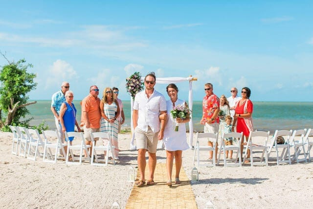 Real Wedding at Sombrero Beach in Marathon