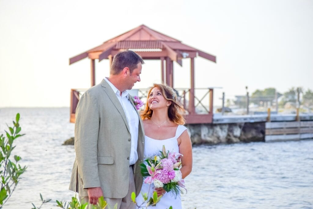 Real Wedding using our Elopement Package at Rowells Park in Key Largo, FL