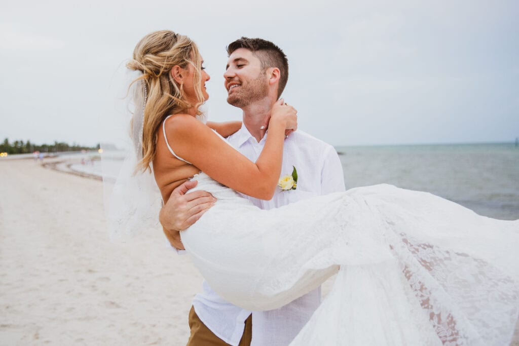 Real Wedding in Key West at Smathers Beach
