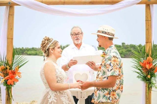 Real Wedding in Marathon at Sombrero Beach