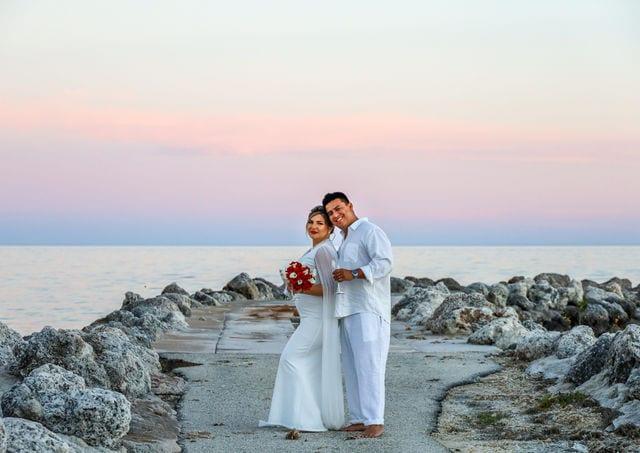 Real Wedding in Tavernier – Jorge & Olga – Seashell Package