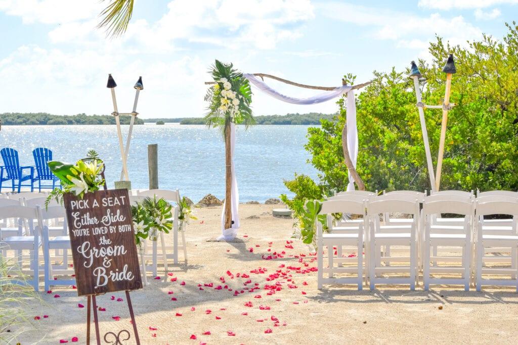 FLorida Keys Beach Decor Wedding Packages
